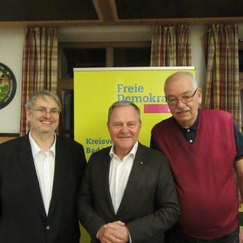 Hr. Fritz Haugg, Dr. Wolfgang Heubisch und Hr. Thomas Ranft