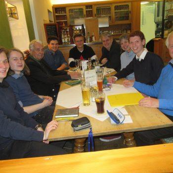 v.l.n.r. auf dem Foto sind: Sebastian Naumann, Simon Öttl, Dr. Klaus Andrae, Lenzi Juffinger, Felix Firydus, Fritz Haugg, Dr. Gaby Andrae, Simon Roloff, Günther Fuhrmann