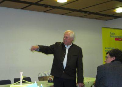 Kreis- und Stadtrat Günther Fuhrmann bei seinem Grußwort