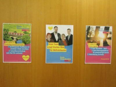Wahlkampfplakate Wolfratshausen