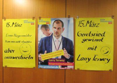Wahlkampfplakate Geretsried