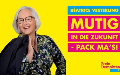 Béatrice Vesterling – Ihre FDP Direktkandidatin im Wahlkreis Bad Tölz-Wolfratshausen-Miesbach